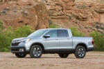 2017 Honda Ridgeline AWD in Lunar Silver Metallic - Static Front Left Three-quarter View