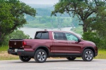 2019 Honda Ridgeline AWD in Deep Scarlet Pearl - Static Rear Right Three-quarter View