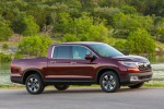 2019 Honda Ridgeline AWD in Deep Scarlet Pearl - Static Front Right Three-quarter View