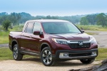 2019 Honda Ridgeline AWD in Deep Scarlet Pearl - Static Front Right View