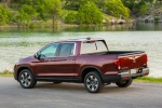 2019 Honda Ridgeline AWD in Deep Scarlet Pearl - Static Rear Left Three-quarter View