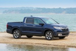 2019 Honda Ridgeline AWD in Obsidian Blue Pearl - Static Front Right Three-quarter View
