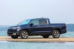 2019 Honda Ridgeline AWD in Obsidian Blue Pearl - Static Front Left Three-quarter View