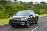 2019 Honda Ridgeline Black Edition AWD in Crystal Black Pearl - Driving Front Left View