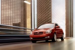 2010 Hyundai Accent Hatchback in Tango Red Metallic - Driving Front Left View