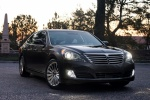 2015 Hyundai Equus Sedan in Night Shadow Brown - Static Front Right View