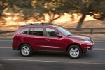 2010 Hyundai Santa Fe Limited AWD in Venetian Red - Driving Front Right Three-quarter View