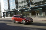 2013 Hyundai Santa Fe in Regal Red Pearl - Driving Front Right Three-quarter View