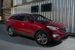 2013 Hyundai Santa Fe in Regal Red Pearl - Static Front Right Three-quarter View