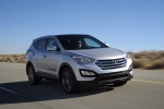 2013 Hyundai Santa Fe Sport in Moonstone Silver - Driving Front Right Three-quarter View