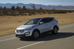 2013 Hyundai Santa Fe Sport in Moonstone Silver - Driving Front Left Three-quarter View