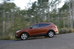2013 Hyundai Santa Fe Sport in Serrano Red - Driving Left Side View