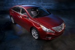 2011 Hyundai Sonata in Venetian Red - Static Front Right Three-quarter View