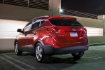 2011 Hyundai Tucson AWD in Garnet Red - Static Rear Left View