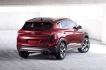 2018 Hyundai Tucson in Ruby Wine - Static Rear Right View