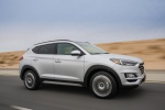 2020 Hyundai Tucson in Silver - Driving Front Right Three-quarter View
