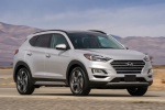 2020 Hyundai Tucson in Silver - Driving Front Right View