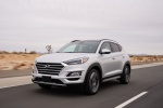 2020 Hyundai Tucson in Silver - Driving Front Left View