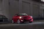 2012 Hyundai Veloster in Boston Red - Static Front Right Three-quarter View