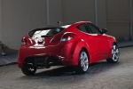 2013 Hyundai Veloster in Boston Red Metallic - Static Rear Right View