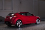 2013 Hyundai Veloster in Boston Red Metallic - Static Rear Right Three-quarter View