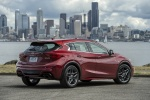 2018 Infiniti QX30S in Magnetic Red - Static Rear Right View