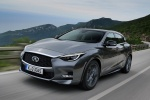 2018 Infiniti QX30 AWD in Graphite Shadow - Driving Front Left View