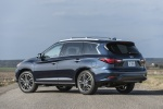 2018 Infiniti QX60 in Hermosa Blue - Static Rear Left View