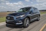 2018 Infiniti QX60 in Hermosa Blue - Driving Front Left Three-quarter View