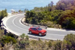 2019 Jaguar E-Pace P300 R-Dynamic AWD in Firenze Red Metallic - Driving Front Right Three-quarter View