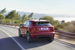 2019 Jaguar E-Pace P300 R-Dynamic AWD in Firenze Red Metallic - Driving Rear Left View