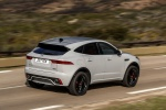2019 Jaguar E-Pace P300 R-Dynamic AWD in Fuji White - Driving Rear Right Three-quarter View