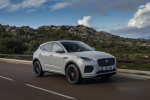 2019 Jaguar E-Pace P300 R-Dynamic AWD in Fuji White - Driving Front Right Three-quarter View