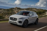 2019 Jaguar E-Pace P300 R-Dynamic AWD in Fuji White - Driving Front Left Three-quarter View