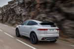 2019 Jaguar E-Pace P300 R-Dynamic AWD in Fuji White - Driving Rear Left Three-quarter View