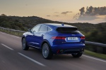 2019 Jaguar E-Pace P300 R-Dynamic AWD in Caesium Blue Metallic - Driving Rear Left View