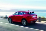 2020 Jaguar E-Pace P300 R-Dynamic AWD in Firenze Red Metallic - Driving Rear Left Three-quarter View