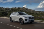 2020 Jaguar E-Pace P300 R-Dynamic AWD in Fuji White - Driving Front Right Three-quarter View