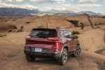2014 Jeep Cherokee Trailhawk 4WD in Deep Cherry Red Crystal Pearlcoat - Static Rear View