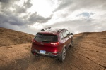 2014 Jeep Cherokee Trailhawk 4WD in Deep Cherry Red Crystal Pearlcoat - Static Rear Right View