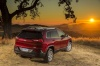 2017 Jeep Cherokee Latitude in Deep Cherry Red Crystal Pearlcoat from a rear right view