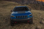 2019 Jeep Cherokee Trailhawk 4WD in Hydro Blue Pearlcoat - Static Frontal View