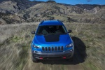 2019 Jeep Cherokee Trailhawk 4WD in Hydro Blue Pearlcoat - Driving Frotnal View