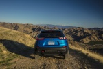 2019 Jeep Cherokee Trailhawk 4WD in Hydro Blue Pearlcoat - Driving Rear View