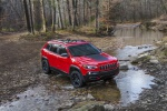 2019 Jeep Cherokee Trailhawk 4WD in Firecracker Red Clearcoat - Driving Front Right View
