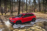 2019 Jeep Cherokee Trailhawk 4WD in Firecracker Red Clearcoat - Driving Front Left View