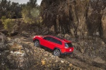 2019 Jeep Cherokee Trailhawk 4WD in Firecracker Red Clearcoat - Driving Rear Left Three-quarter View
