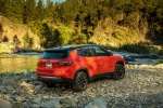 2019 Jeep Compass Trailhawk 4WD in Spitfire Orange Clearcoat - Static Rear Right Three-quarter View
