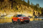 2019 Jeep Compass Trailhawk 4WD in Spitfire Orange Clearcoat - Static Front Right Three-quarter View