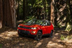 2019 Jeep Compass Trailhawk 4WD in Spitfire Orange Clearcoat - Static Front Left Three-quarter View